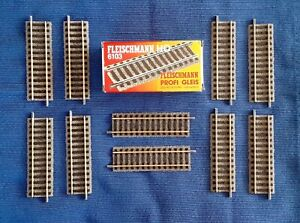 HO FLEISCHMANN Profi-Gleis 6103 HALF STRAIGHT TRACKS - BOX of 10 - NEW