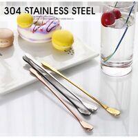 Rainbow Flatware Dessert Scoop Stainless Steel Tableware Dinnerware Stir Spoon