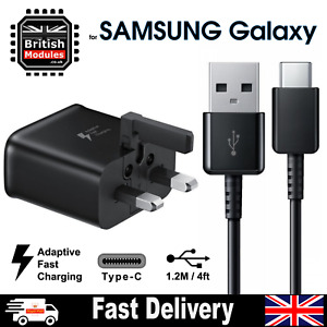 Fast Charger Plug & USB C Type Cable for SAMSUNG Galaxy S8 Mains Wall Charger