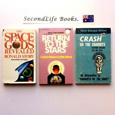 x3 UFO BOOK SET ~ SPACE GODS REVEALED, RETURN TO THE STARS, CRASH GO THE CHARIOT