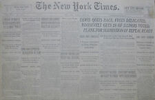 6-1932 JUNE 25 REICH FRANCE HERRIOT PROHIBITION. HARVARD CONQUERS YALE IN CREW