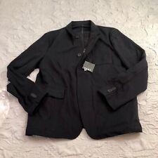 New DKNY Mens Convertible Blazer Coat Navy Blue Large