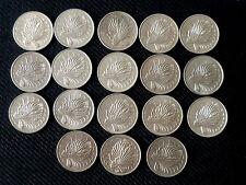Complete set of 18 pcs. Singapore 50 cents Lion Fish coins - 1967-1984