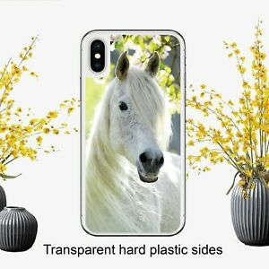White Horse Equestrian Bautiful Case Cover for iPhone Samsung Huawei Google