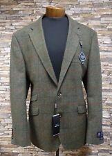 Douglas Mens 100% Merino Lambswool Green Tweed Jacket with Check Size 46 New