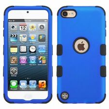 For Apple iPod Touch 5th Gen/6th Gen Blue Black Tuff Hard Hybrid Case Cover