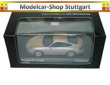 Porsche 911 Coupe Salmon Silver Museum Edition Minichamps 1:43 New
