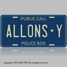 Doctor Who Allons Y Tardis Auto Vanity Aluminum License Plate Tag Brand New