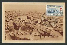 Algerie MK 1952 CROCE ROSSA RED CROSS Bou Noura carte MAXIMUM CARD MC cm d637
