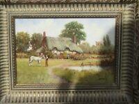 Stunning original Oil painting by artist Richard Rhead Simm b.1926 - In frame