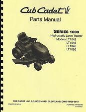 Cub Cadet  LT1042/ LT1045/ LT1046/ LT1050 Lawn Tractor Parts Manual