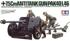 TAMIYA 1/35 tedesco 75mm ANTI TANK GUN # 35047