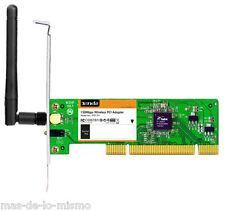 Tarjeta PCI Inalambrica Tenda W311p WiFi 802.11n 150Mbps 1t1r 1x 2.5dbi Rp-sma