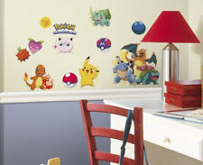 POKEMON wall stickers 24 decals iconic Pikachu Squirtle Charmander BULBASAUR