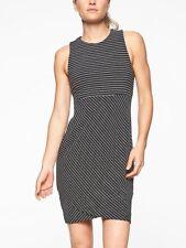 Athleta Stripe La Palma Dress, sz SP Small Petite Black/White Stripe