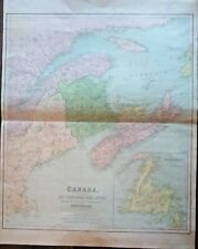 GENUINE BEAUTIFUL MAP OF CANADA (EAST SHEET) 1864 VERY RARE FRAMABLE
