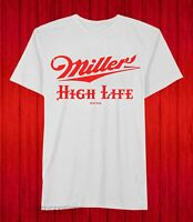 New Miller High Life Classic Label Logo Brewing Beer Mens Vintage T-Shirt