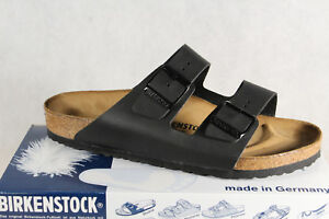 Birkenstock Arizona Mules Sandal Home Slippers Black 051791 New