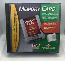 Nintendo N64 Performance Memory Card REPLACEMENT BOX ONLY - Nintendo 64