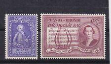 ruanda urundi 1956 Sc B21/2 mozart,,set      q1584