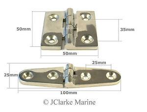 Marine grade stainless steel hinge strap butt hinges 316 A4 hatch door cabinet