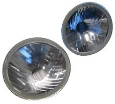 "Crystal 7"" halogen H4 Head lights upgrade Triumph Spitfire Herald lamps lucas"