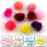 10Pcs DIY Pompom 3cm Fur Balls For Sewing Knitted Keychain Scarf Shoes Hat Acces