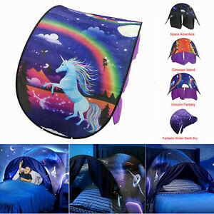 Dream Tents Kid House Space Adventure Wonderland Foldable Pop up Indoor Bed UK