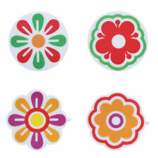 6 Flowers Appliques Anti-slip Bathtub Grip Decals Stickers Bath Shower Treads