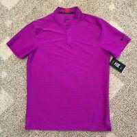 Nike Dry Mens Tiger Woods TW Short Sleeve Polo Golf Shirt Fuchsia Size Medium