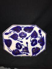 "Early 14 1/2"" Flow Blue Brushstroke Platter"