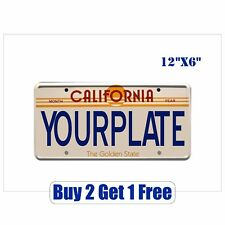 """YOUR LICENSE PLATE - (CUSTOM LETTERS & STATE) 12""""x6"""" Bumper Sticker GoGoStickers"""