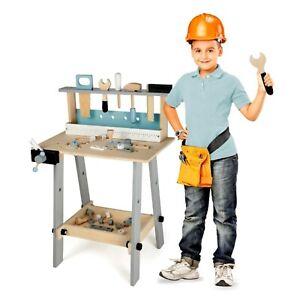 Kinderwerkbank Holz Werkzeug Werkbank Kinder Spielzeug Werkstatt Werkzeugbank