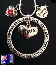 NANA Inspirational 925 Sterling Silver Chain Pendant Charm Necklace Family Gift