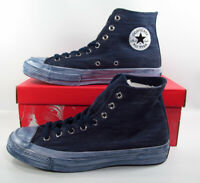 Converse Chuck Taylor All Star 70 Hi Sneaker Painted Canvas Navy Blue Men 9.5