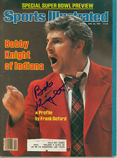 BOB KNIGHT SIGNED 1981 SPORTS ILLUSTRATED INDIANA HOOSIERS W/ COA