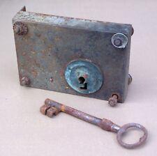 Ancienne serrure à double tour panneton porte portail old double-turn lock #2