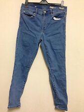 Gap 1969 Size 12 Blue Skinny Denim Jeans 30s 30 Short 30 Court 48-50/78cm