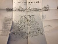 Map civil war spain - 1874 - Bilbao, very RARE