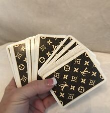 Vintage LOUIS VUITTON 1 Deck of Playing Cards in Brown Monogram Print
