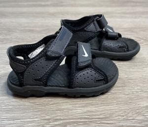 Nike Santiam Black Strap Hiking Sport Casual Outdoor Sandals Child Size 5C