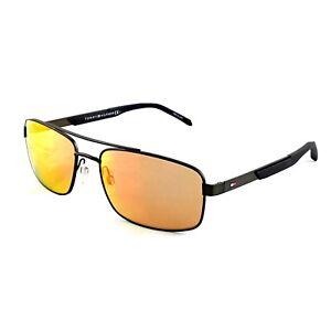 Tommy Hilfiger Men's Ruthenium Orange Mirror 59mm Lens Sunglasses - TH1674/S