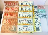 Vintage Car & Motorcycle License Plates - Ohio and South Carolina - Lot of 15