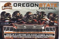2005 OREGON STATE BEAVERS FOOTBALL POCKET SCHEDULE
