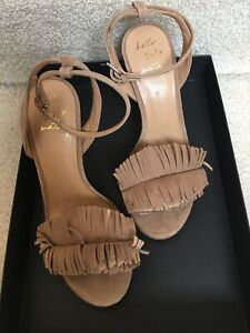 NWB Banana Republic Women's Honey Bis Mocha Suede Ankle Strap Heels Size 6.5