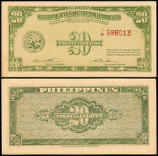 20 Centavos English Series Garcia - Cuaderno ODD Fantasy Philippine Banknote