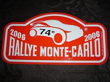 """Plaque de rallye """"MONTE CARLO"""" 2006."""