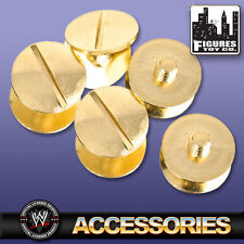 Set Of 5 Gold Replica Belt Screws for WWE Wrestling belts
