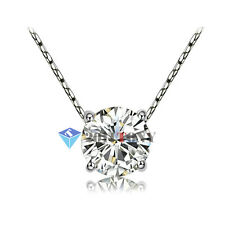 Silver Color 18K White GP Swarovski Crystal Womens Simulated Diamond Necklace