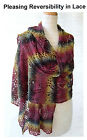 BEAUTIFUL LACE PLEASING REVERSIBILITY STOLE to KNIT in FINGERING WEIGHT YARN